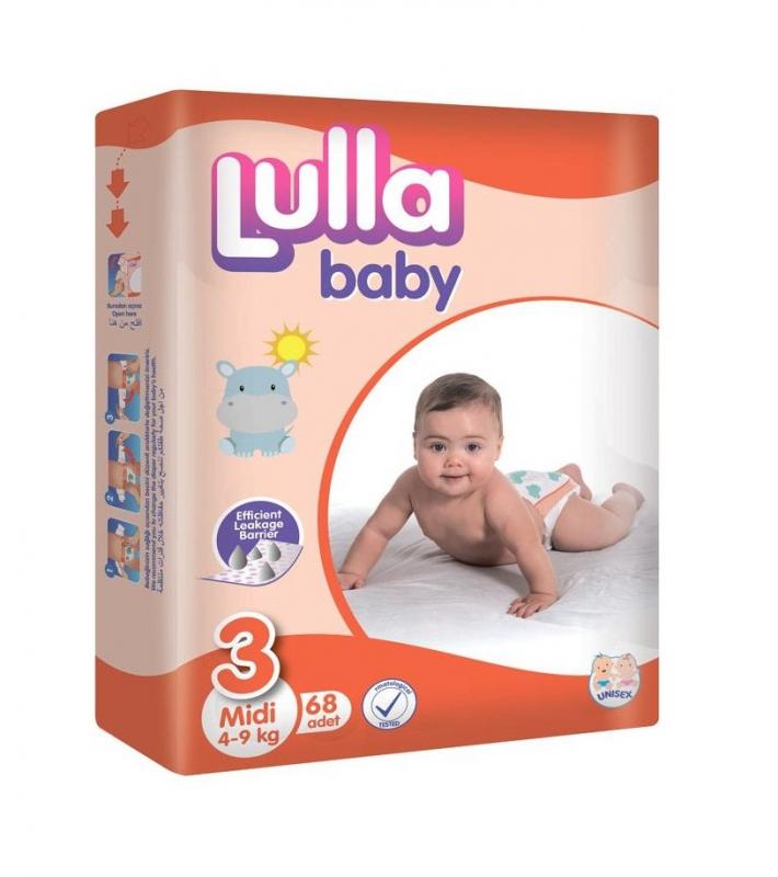Scutece LULLA BABY MIDI 68 buc 4-9 Kg № 3
