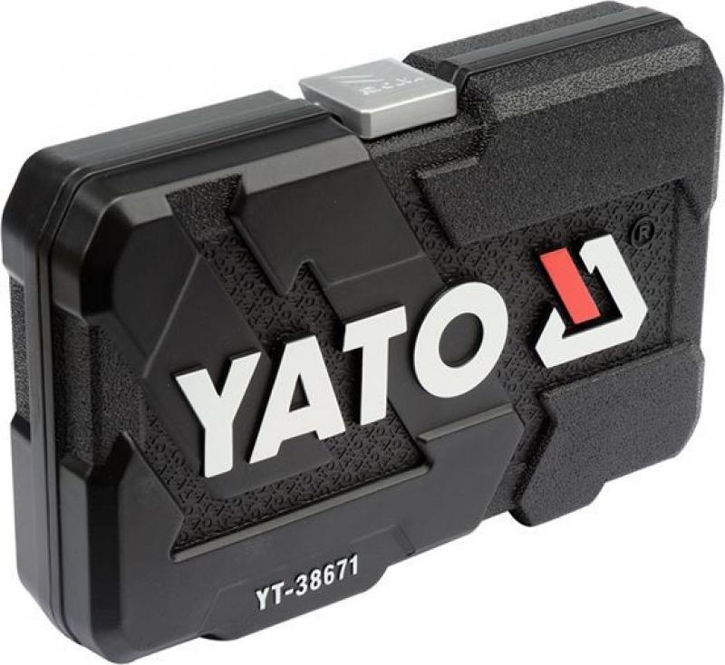 Set YATO YT-38791 Chei tubulare cu antrenor (108 buc)