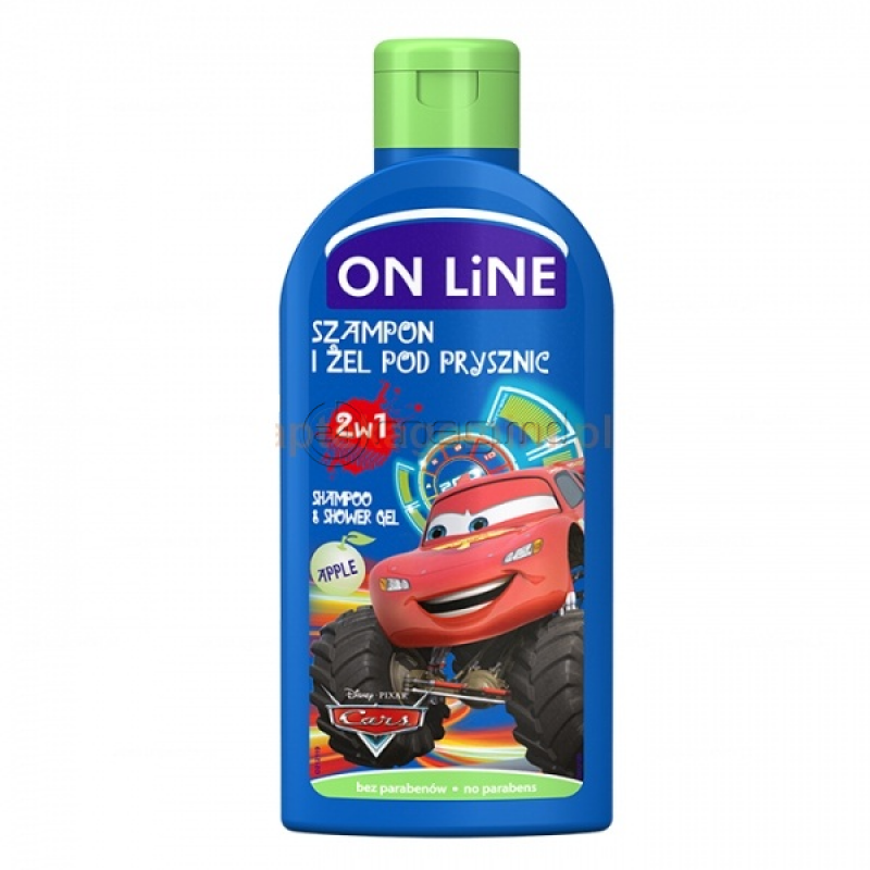 Sampon copii ON LINE DISNEY CARS 2 in 1 250 ml