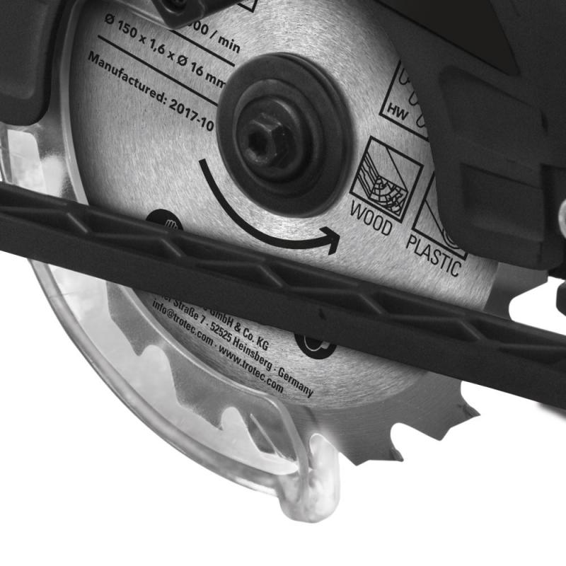 Ferastrau TROTEC PCSS 1020 (circular cu acumulator)