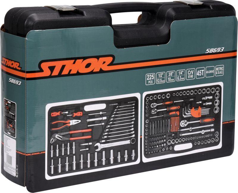 Set STHOR 58691 (216 buc) Chei tubulare cu antrenor