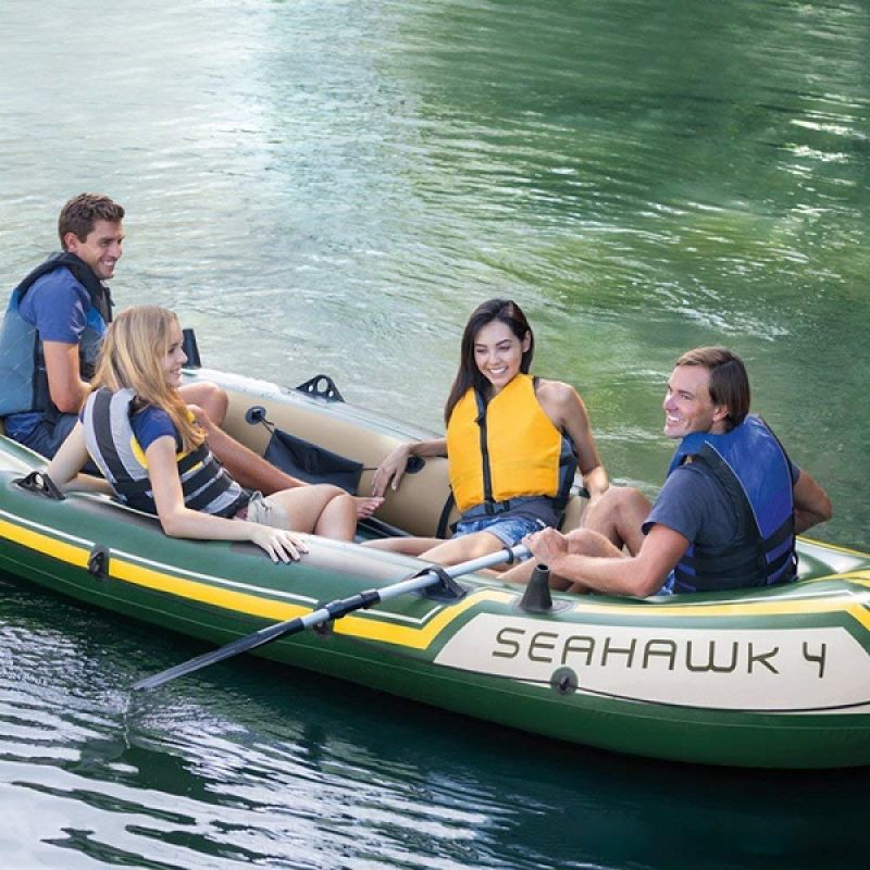 Barca INTEX SEAHAWK 4 (351X145X48CM)(68351)
