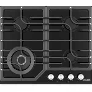 Plita WOLSER WL- F 6402 GT IC BLACK Incorporabila Gaz