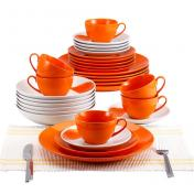 Farfurie BLAUMANN 2038-3 ORANGE-ROUND (SET) 30 buc porcelan
