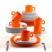 Farfurie BLAUMANN 2037-3 ORANGE-SQUARE (SET) 30 buc porcelan