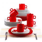 Farfurie BLAUMANN 2037-2 RED-SQUARE (SET) 30 buc porcelan