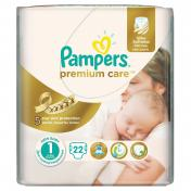 Scutece PAMPERS PREMIUM CARE 22 buc № 1