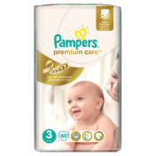 Scutece PAMPERS PREMIUM CARE 60 buc № 3