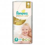 Scutece PAMPERS PREMIUM CARE 52 buc № 4