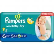 Scutece PAMPERS JUMBO PACK 15+ Kg № 6 54 buc