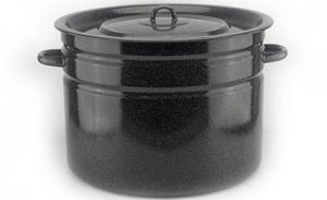 Cratita Магнитогорск р-2829 negru 0,420х0,420х0,335 cm cu capac email 32 L
