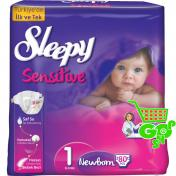 Scutece SLEEPY SENSITIVE NEWBORN 80 buc № 1