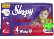 Scutece SLEEPY SENSITIVE MAXI 45 buc № 4