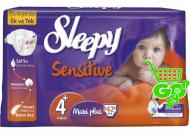 Scutece SLEEPY SENSITIVE MAXI PLUS 42 buc № 4+