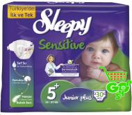 Scutece SLEEPY SENSITIVE JUNIOR PLUS 30 buc № 5+