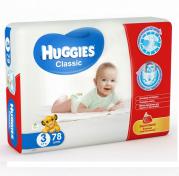 Scutece HUGGIES CLASSIC 78 buc 4-9 Kg № 3