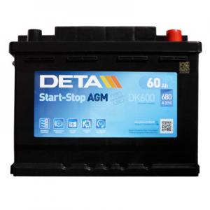 Acumulator DETA DK600 MICRO-HYBRID AGM