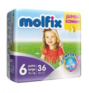 Scutece MOLFIX JUMBO PACK 36 buc № 6