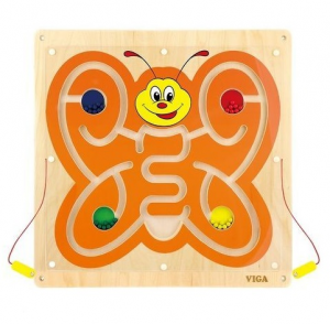 Jucarie logica VIGA WALL TOY-MAGNETIC BEAD TRACE (50436)