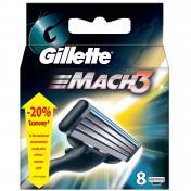 Casete-lame de ras GILLETTE MACH 3 +8 rezerve