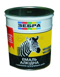 Vopsea ZEBRA (82) email 900 g galben-cafeniu