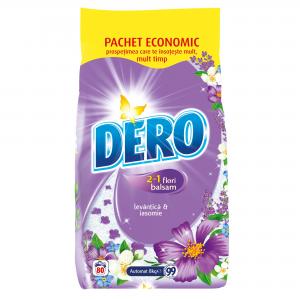Detergent DERO 2IN1 LAVANDER 8 Kg Automat (80 washes)