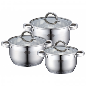 Cratita PETERHOF PH-15772 (SET) inox 3 buc