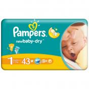 Scutece PAMPERS SMALL PACK 43 buc 2-5 Kg № 1