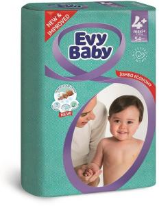 Scutece EVY BABY MAXI 54 buc 9-16 Kg № 4+