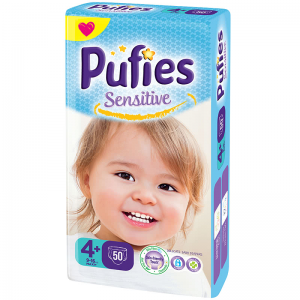 Scutece PUFIES SENSITIVE MAXI PLUS 50 buc 9-16 Kg № 4+