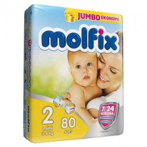 Scutece MOLFIX JUMBO PACK 80 buc № 2