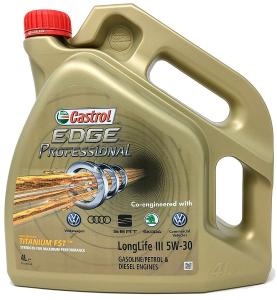 Ulei motor CASTROL EDGE PROFESSIONAL LL VW 5W30 4000 ml