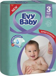 Scutece EVY BABY MIDI № 3 68 buc 4-9 Kg